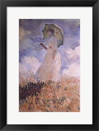 Framed Woman with Parasol Print