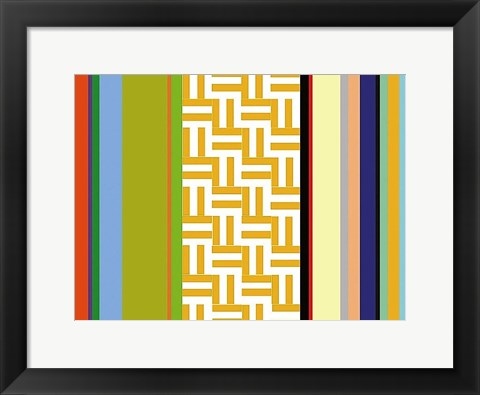 Framed Striped Key Print