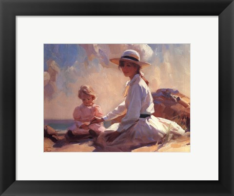 Framed Summer on the Beach Print
