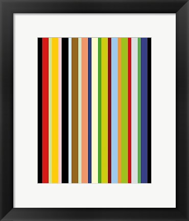 Framed Candy Stripe Print
