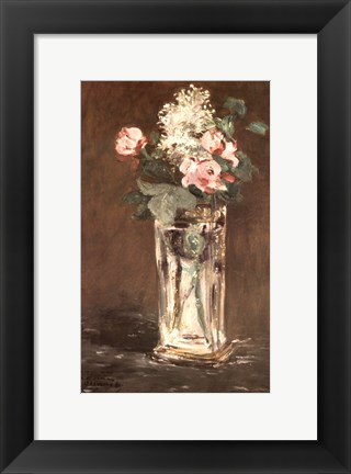 Framed Flowers in a Vase, Ca. 1882 Print