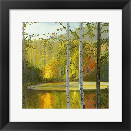 Framed Cooper Lake, Autumn Print