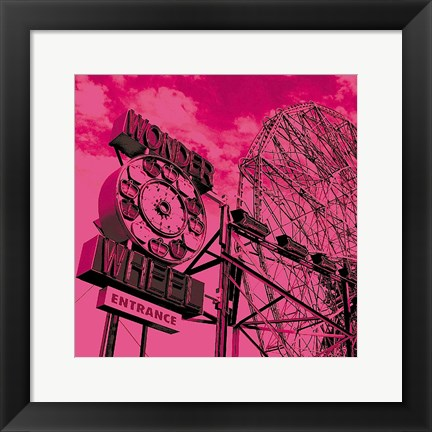 Framed Cotton Candy Wonder Wheel Print