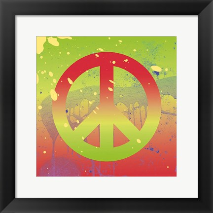 Framed Outtasight Peace Print