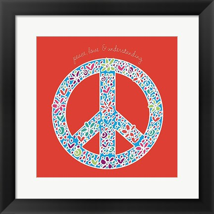 Framed Peace, Love, and Understanding Print