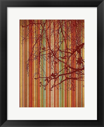 Framed Amber Stripe Print