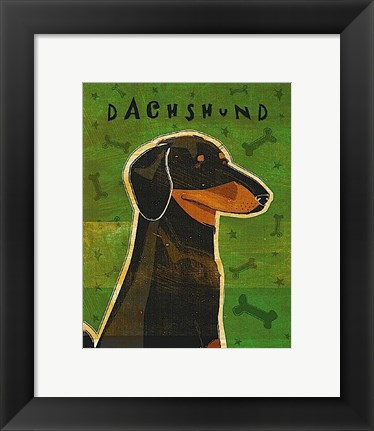 Framed Dachshund (black and tan) Print