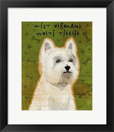 Framed West Highland White Terrier Print
