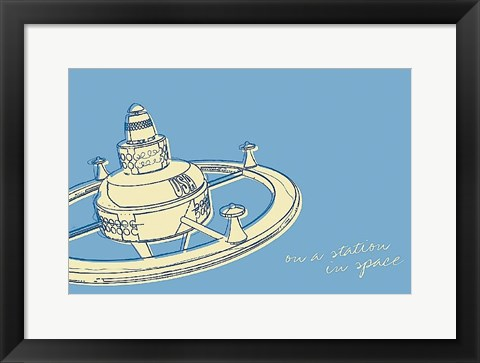 Framed Lunastrella Space Station Print