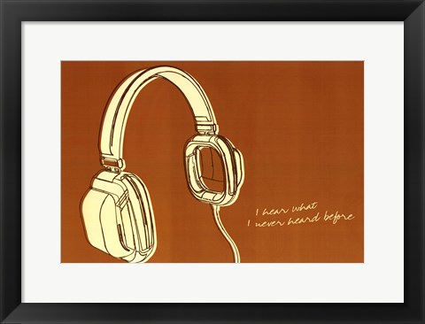 Framed Lunastrella Headphones Print