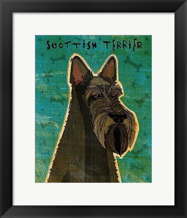 Framed Scottish Terrier Print