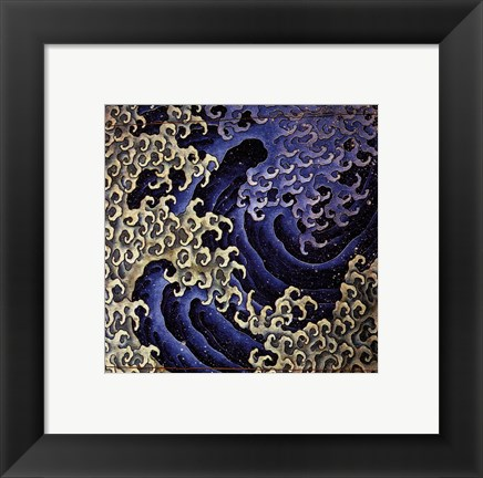 Framed Masculine Wave Print