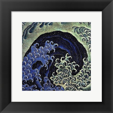 Framed Feminine Wave Print