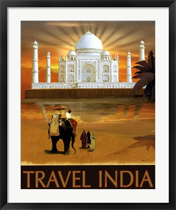 Framed Travel India Print