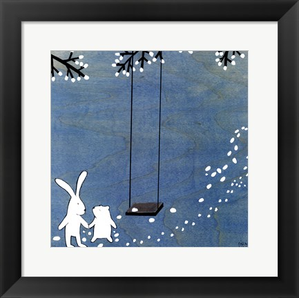 Framed Follow Your Heart- Let's Swing Print