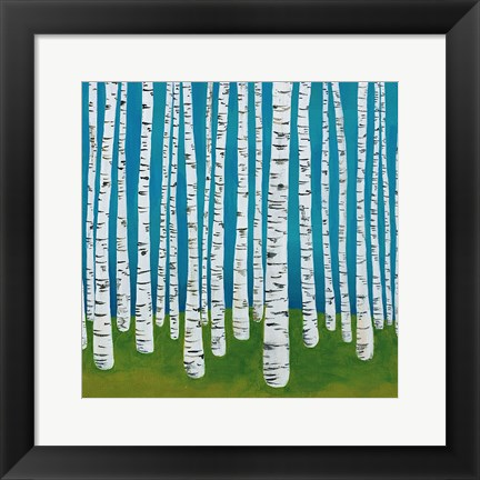 Framed Birch Grove Print