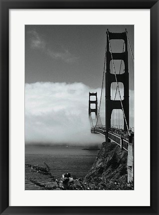 Framed Golden Gate Fog Print