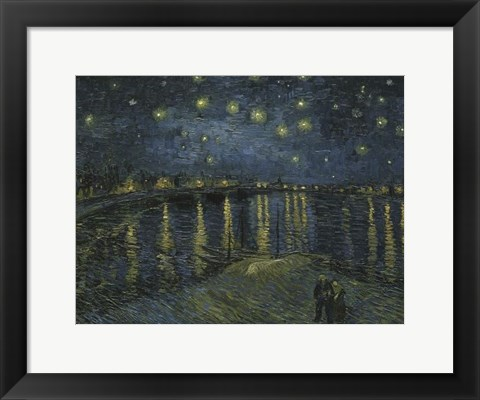Framed Starry Night Over the Rhone Print