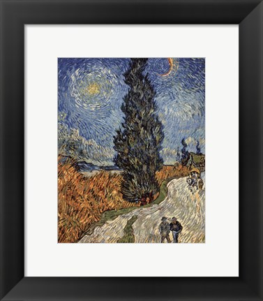 Framed Country Road in Provence by Night, c. 1890 Print