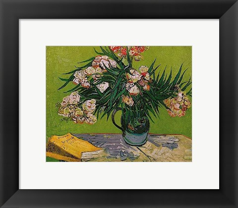 Framed Still Life with Oleander Print