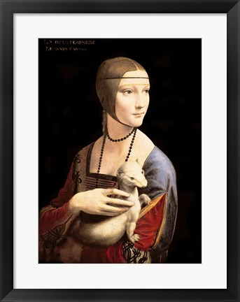 Framed Lady with the Ermine Print