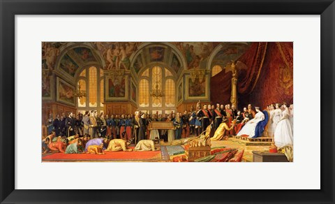 Framed Reception of Siamese Ambassadors by Emperor Napoleon III Print