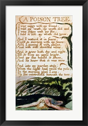 Framed Poison Tree, from Songs of Experience Print
