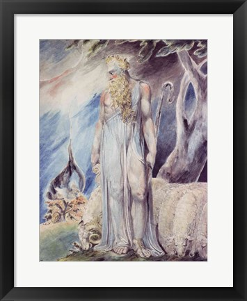 Framed Moses and the Burning Bush Print