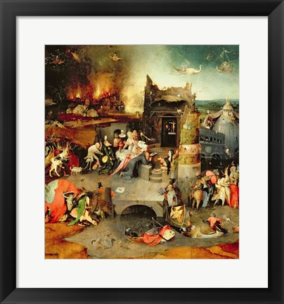 Framed Temptation of St. Anthony Print