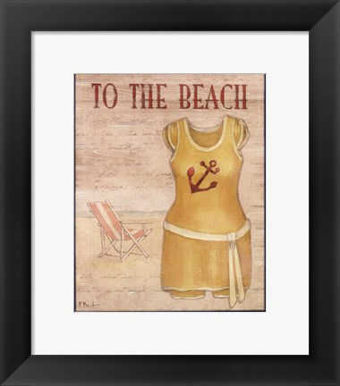 Framed To The Beach - mini Print