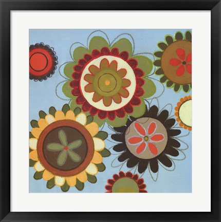 Framed Zinnia Awesome II Print