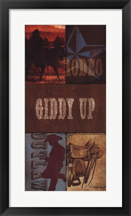 Framed Giddy Up Print