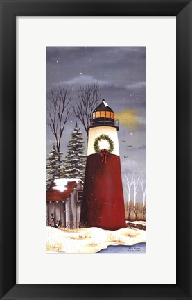 Framed North Shore Lighthouse Print
