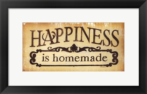 Framed Happiness is Homemade Print