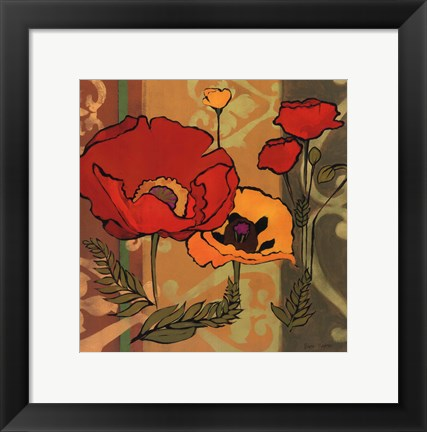 Framed Majestic Poppies II Print