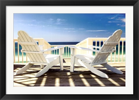 Framed Deck Chairs Print