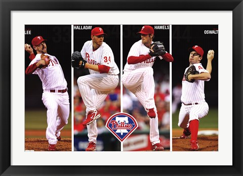 Framed Phillies - Pitchers 11 Print