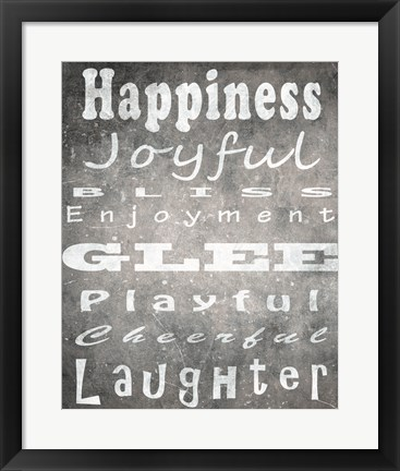 Framed Happiness Print