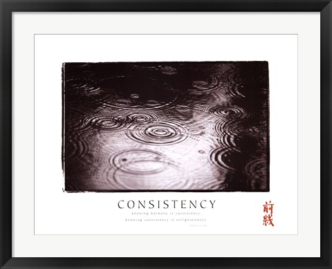 Framed Consistency - Raindrops Print