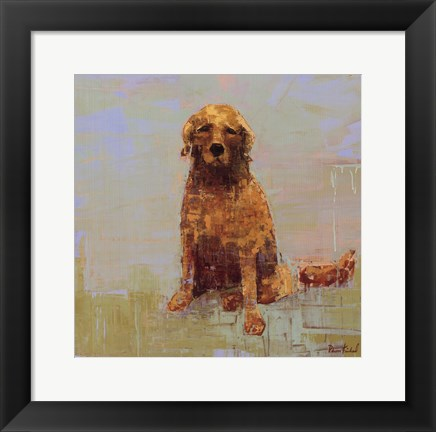 Framed Golden Dog No. 2 Print