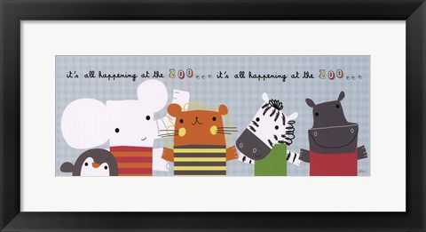 Framed It's All Happening at the Zoo II Print