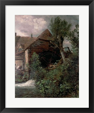 Framed Watermill at Gillingham, Dorset Print