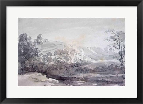 Framed View in Derbyshire Print