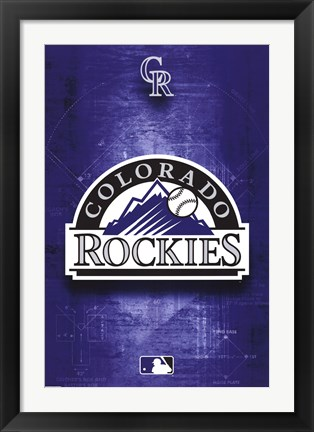 Framed ROCKIES - LOGO 11 Print