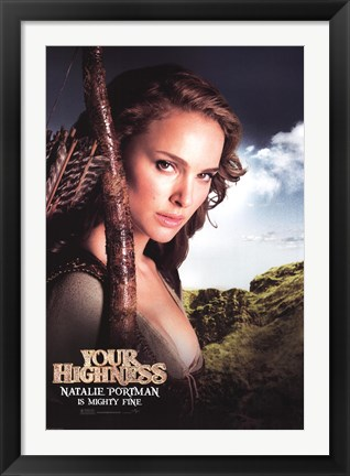 Framed Your Highness - Natalie Portman Print