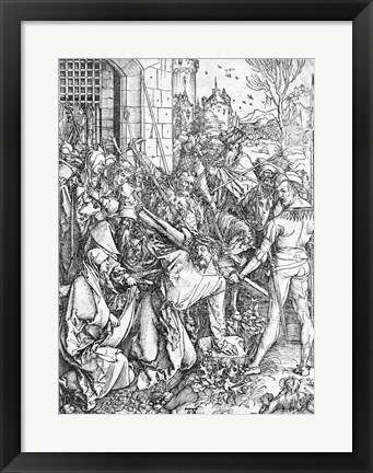 Framed carrying of the cross Print
