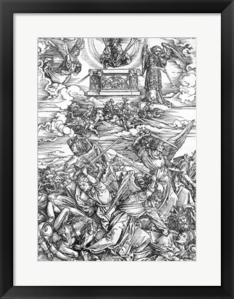 Framed Scene from the Apocalypse, The Four Vengeful Angels Print