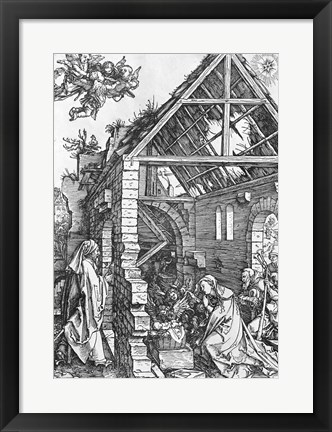 Framed Nativity, from the 'Life of the Virgin' series, c.1503 Print