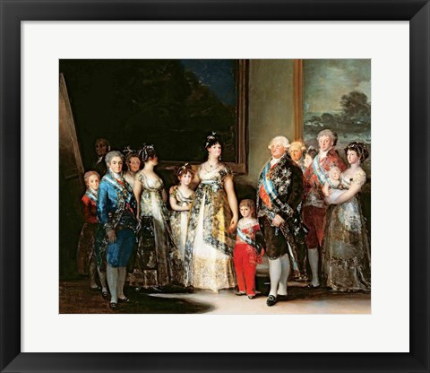 Framed Charles IV and his family, 1800 Print