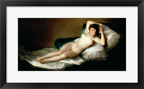 Framed Naked Maja, c.1800 Print